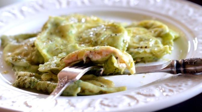 szpinakowe ravioli