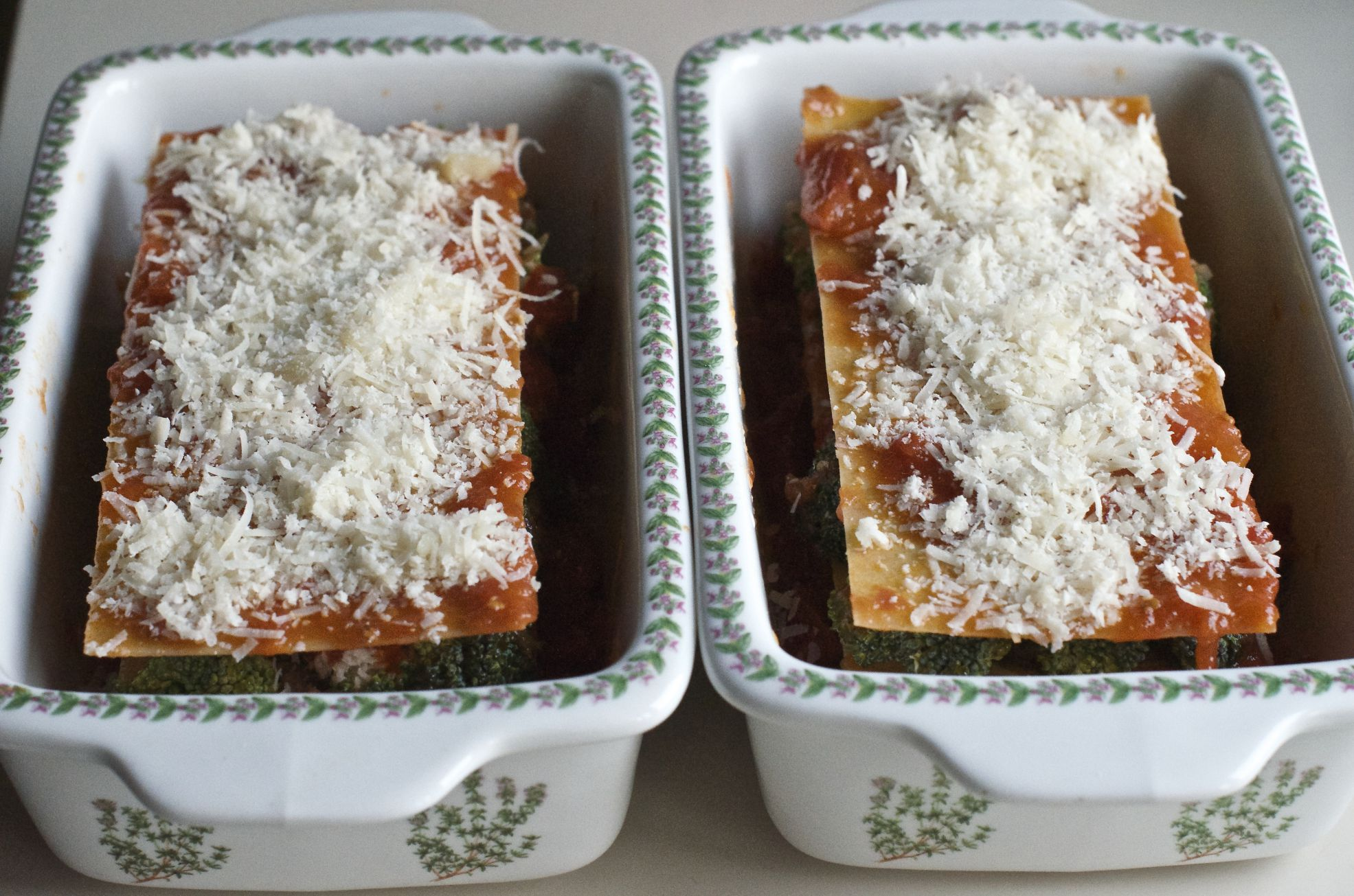 lasagne z brokułami