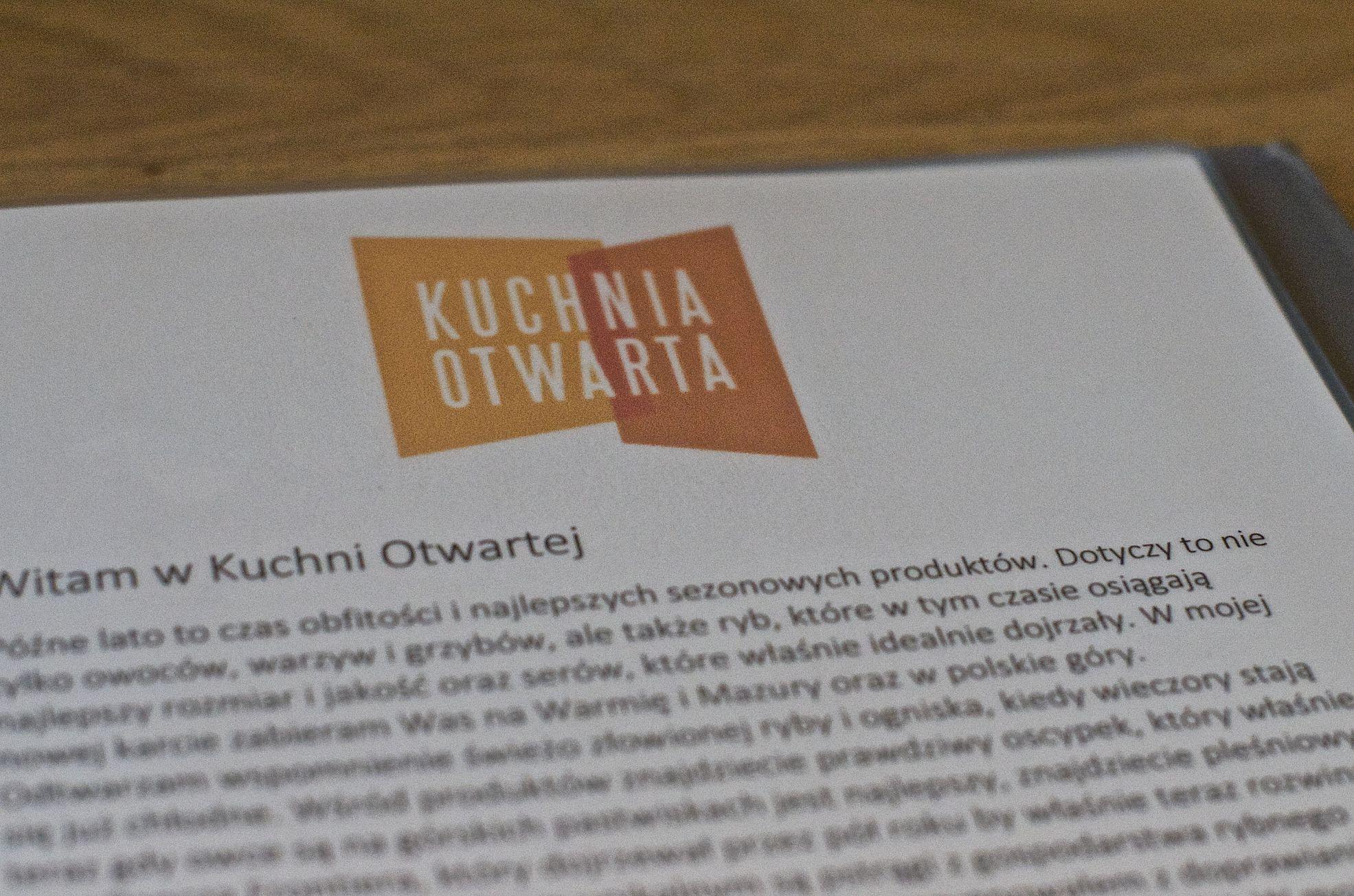 Kuchnia Otwarta w Warszawie (Wilanów)  Recenzja -> Kuchnia Otwarta Restauracja Warszawa