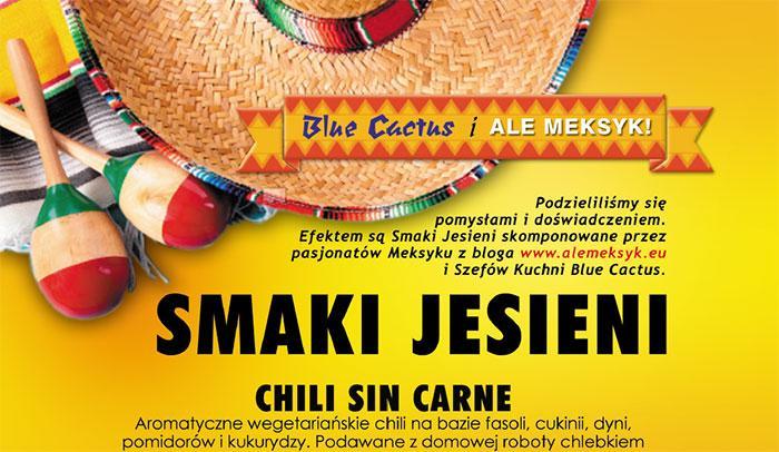 jesienne menu w Blue Cactus