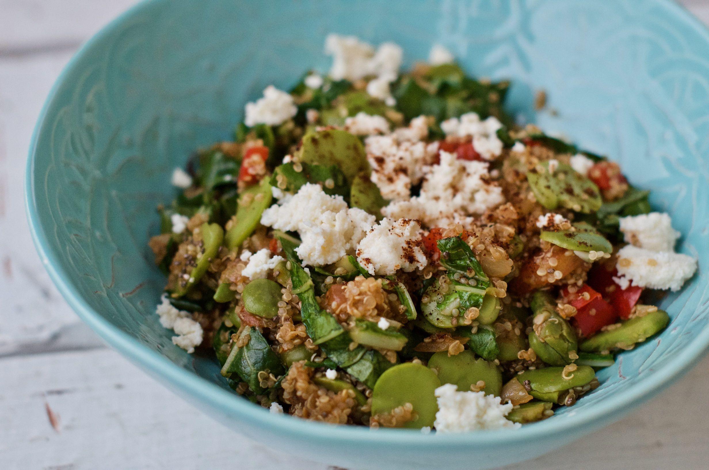 bób z quinoa