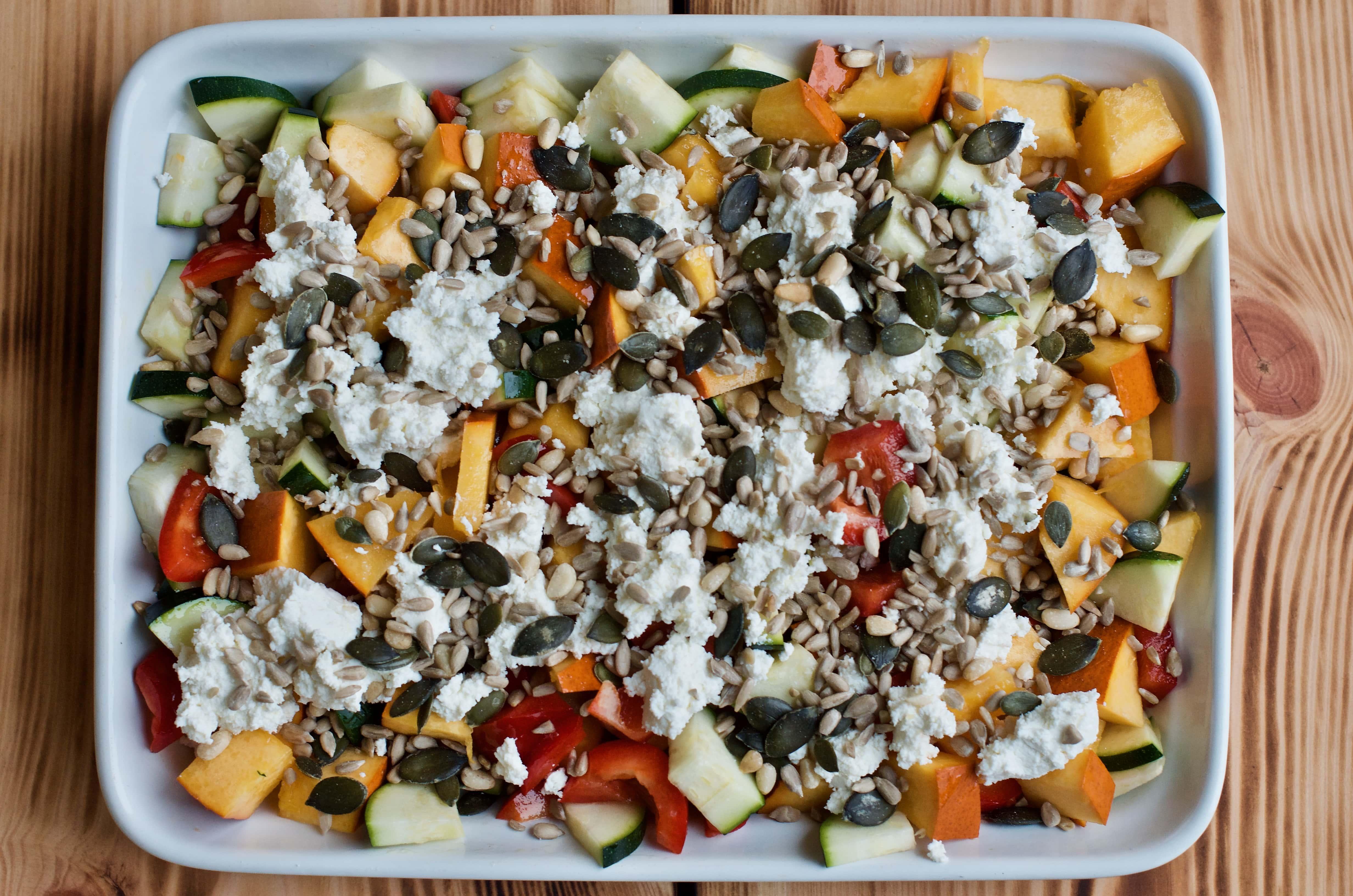 kasza z pieczonymi warzywami