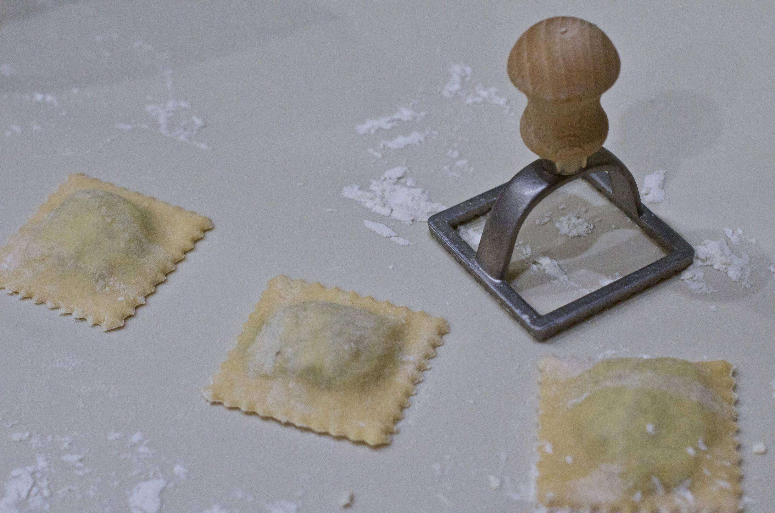 ravioli ze szpinakiem