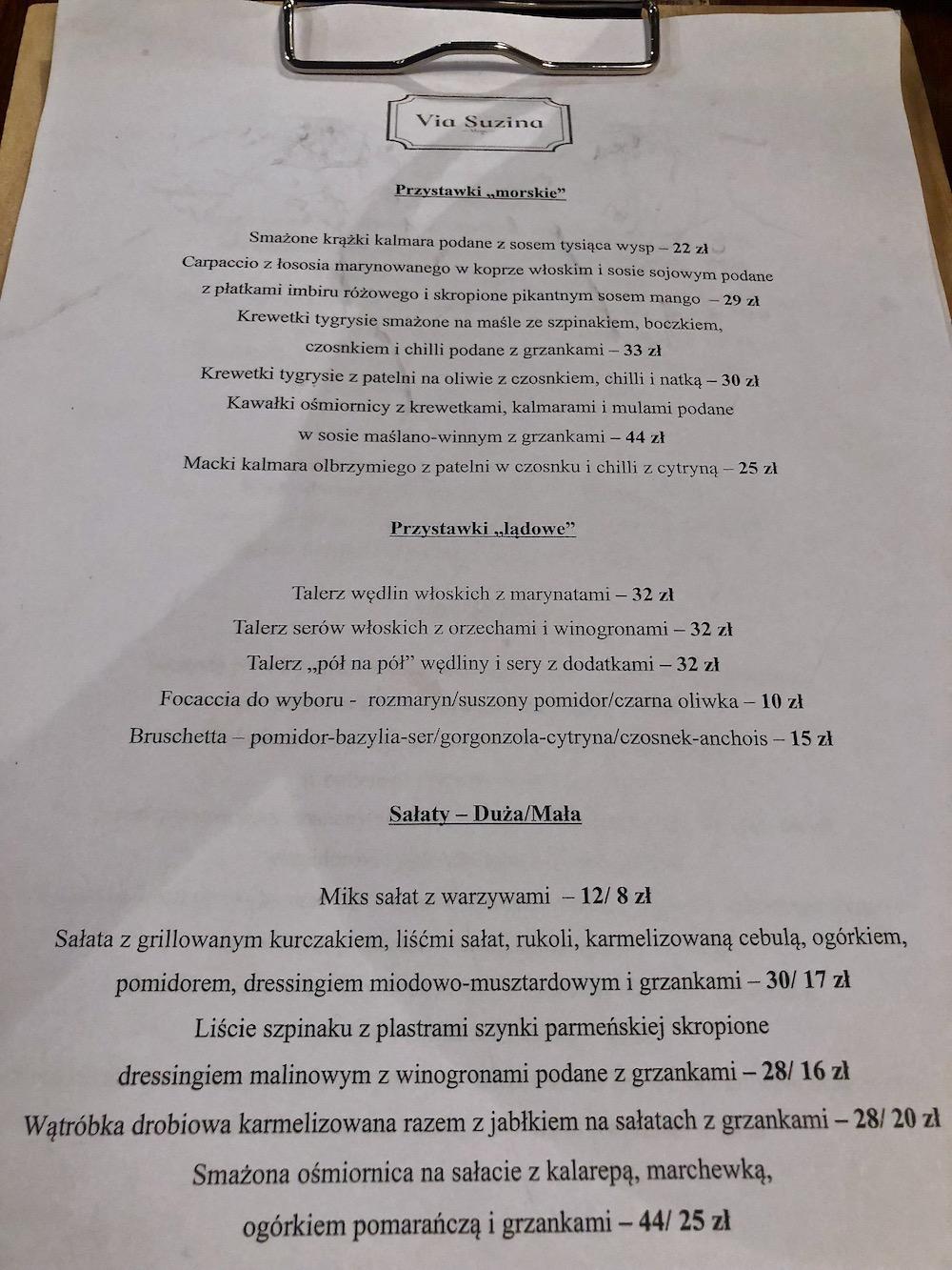 restauracja Via Suzina