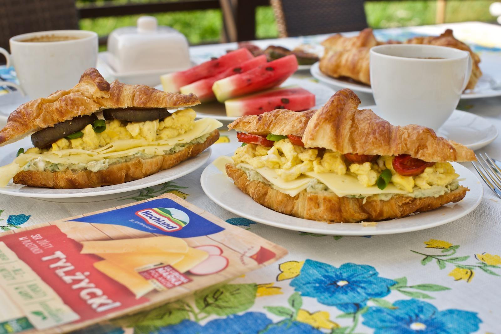 Śniadaniowe croissanty